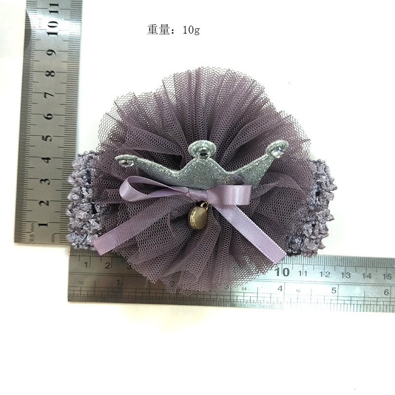 Lace Flower Headbands Girls Hairbands for Kids Hair Bows Head Bands Crowns Elastic Headwear Children Turban Headwrap Wholesale