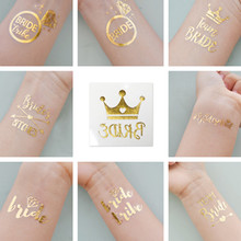 3pcs bride tribe Temporary Tattoo bachelorette party accessories Bridesmaid bridal shower wedding decoration party favor 19 type