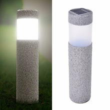 New Landscape Path Stake Solar Lamp Plastic LED Stone Lights Solar LED Light Outdoor Solar Lawn Garden Lights(China)