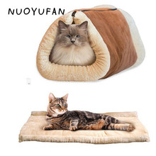 NUOYUFAN 2 In 1 Pet Mats Portable Breathable Cat Dog House Beds Washable Warm Sleeping Bed Kennel 90*57cm Pet Products(China)