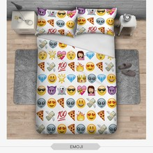 Brief Hot 3D Digital Printing Diamonds emoji Expression Comfortable Polyester Bedding Sets 1Pcs Duvet Cover + 2Pcs Pillowcase