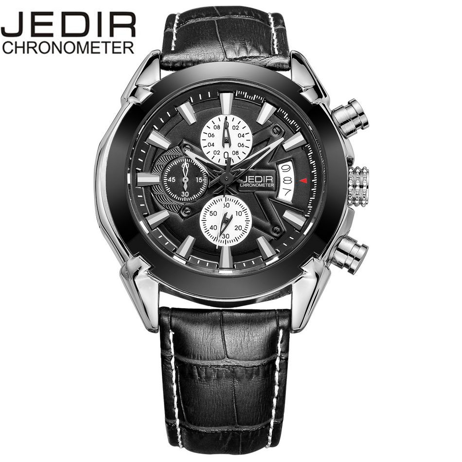 2017 JEDIR Mens Relogio masculino Casual Military Watches Sports Quartz Day Watch Brand clock Gift Box Free Ship<br><br>Aliexpress