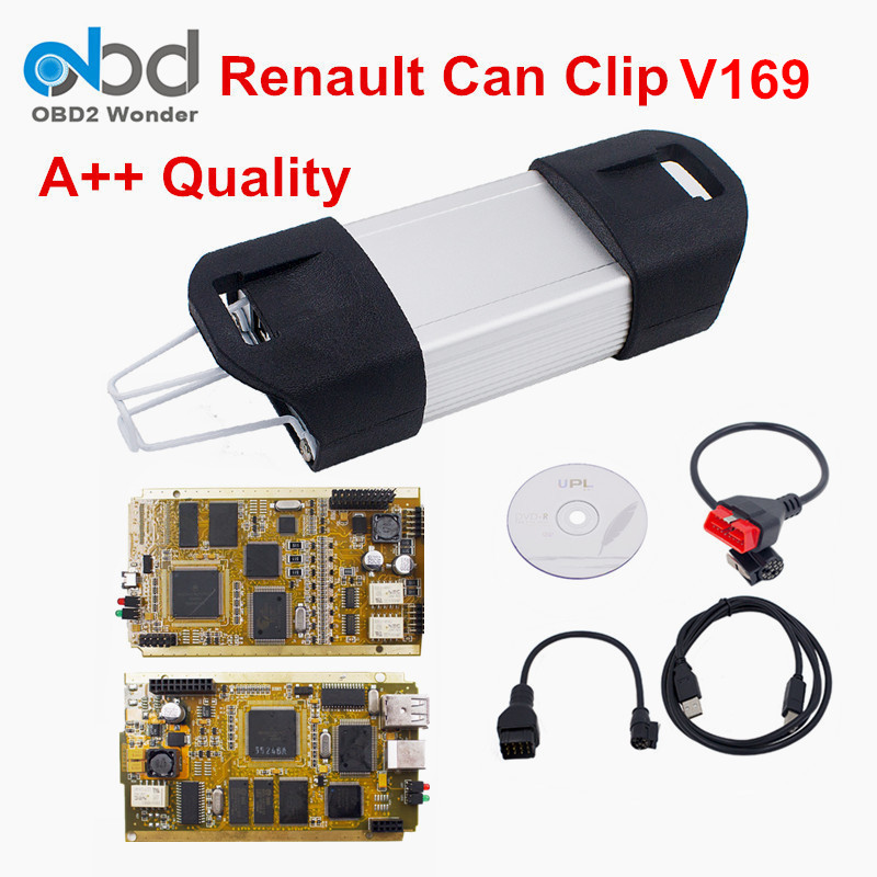 A++ Renault Can Clip V169 Car Diagnostic Tool With Multi-Language Renault Clip Scanner Professional For Renault Multi-Model Cars(China (Mainland))