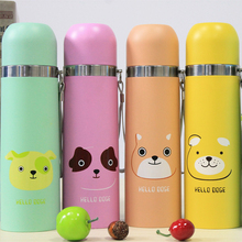 Cartoon Bullet Thermoses Coffee Stainless Steel Vacuum Flasks Thermos Travel Mug School Thermo mug Insulated Drink Bottle Kids