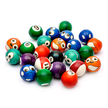 FUN Emoji Face &Snooker Squeeze Balls-Stress Relax Emotional Toy Balls ~ Fun Office Holiday Gift(China)