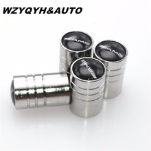 Car-styling Car Wheel Tire Valves Tyre Stem Air Caps Airtight Cover case For Mercedes Benz W203 W210 W211 AMG W204 C E S CLS CLK