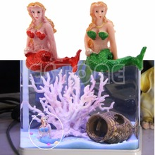 New Resin The Little Mermaid Fish Tank Aquarium Decorations Ornaments Home Decor