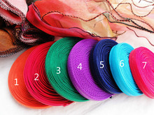Colorful 5M 1.2CM Width,Silicone Width 0.3cm Non-slip Elastic Band For Tailor Sewing DIY Bra Strap Elastic Webbing Accessories(China)