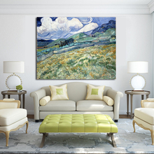 WANG ART Blue Sky And White Clouds Canvas Art Oil Painting Moder Home Decor Picture Wall Pictures For Living Room No Frame