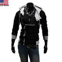 US Stock Hot Sale Winter&Autumn Men Hoodies Sweatshirts Casual Men Zipper Hoodies Slim Fit Male Hooded Jacket Sportswear(China)