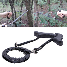 Outdoor Camping Survival Chain Saw Hand ChainSaw Fast Cutting EDC Camping Tool Pocket Gear(China)