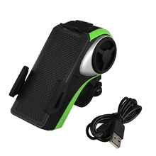 Brand New Bicycle Phone Holder Bluetooth Audio MP3 Player Speaker Bell+Bike Light High Quality
