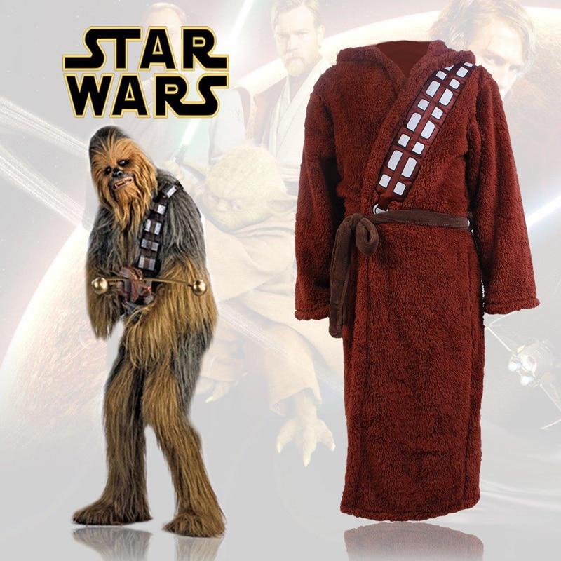 2018 New Star Wars Cosplay Brown Bath Robe Bathrobe Cloak Mantle ...