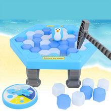 Penguin Ice Breaking Puzzle Table Games Balance Ice Cubes Knock Ice Block Wall Toy Desktop Paternity Interactive Family Fun Game