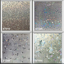 90*100cm No Glue Self Adhesive Privacy Decorative Window Film Static Glass Sticker Water Transfer Film Tulip For Kitchen