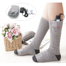 Electric Heated Socks Rapid Heat Cotton Socks With 3.7v 2200mah Rechargeable Battery Keep Feet Warm Electric Heat Socks Unisex