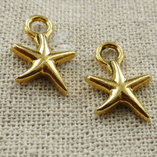 330 pieces Antique gold star charms 17x12mm #163
