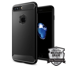 100% Original Rugged Armor Case for iPhone 8 Plus 7 Plus Ultimate Protective Flexible Durable TPU Carbon Fiber Textures Case(China)