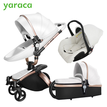 Baby Stroller 3 in 1 Car Seat High View Pram For Newborns Folding Baby Carriage 360 Degree Rotation Travel System Baby Trolley(China)