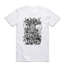 Asian Size Men And Women Print Bring Me The Horizon T-shirt Summer O-Neck Short Sleeves Heavy Metal Music Band T-shirt HCP4064(China)