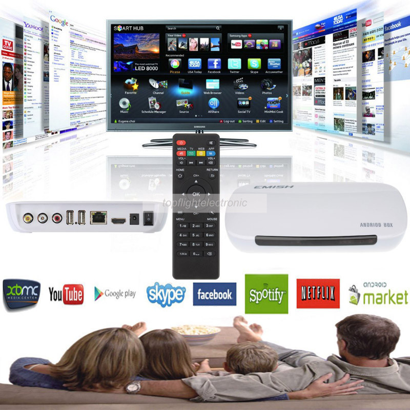 New Quad core Android 4.4 Smart TV Box Pro Media Player 1080P WIFI HDMI XBMC YOUTUB(China)
