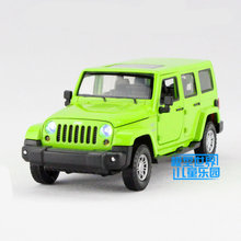 Free Shipping/Diecast Toy Model/1:32 Scale/Jeep Wrangler Super Sport Car/Pull Back/Sound & Light/Educational Collection/Gift(China)