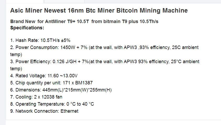 Asic T9 Plus mining