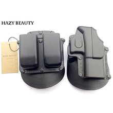 Outdoor Hunting Right Hand Belt Loop Paddle Platform Tactical Gun Pistol Holster Pouch for Glock 17 19 22 23 31 32 34 35