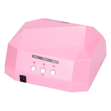Free Shipping Auto Lamp Light Care Machine CCFL 36W Diamond Shaped Best Curing LED Lamp Nail Dryer for UV Gel Nail Polish(China)