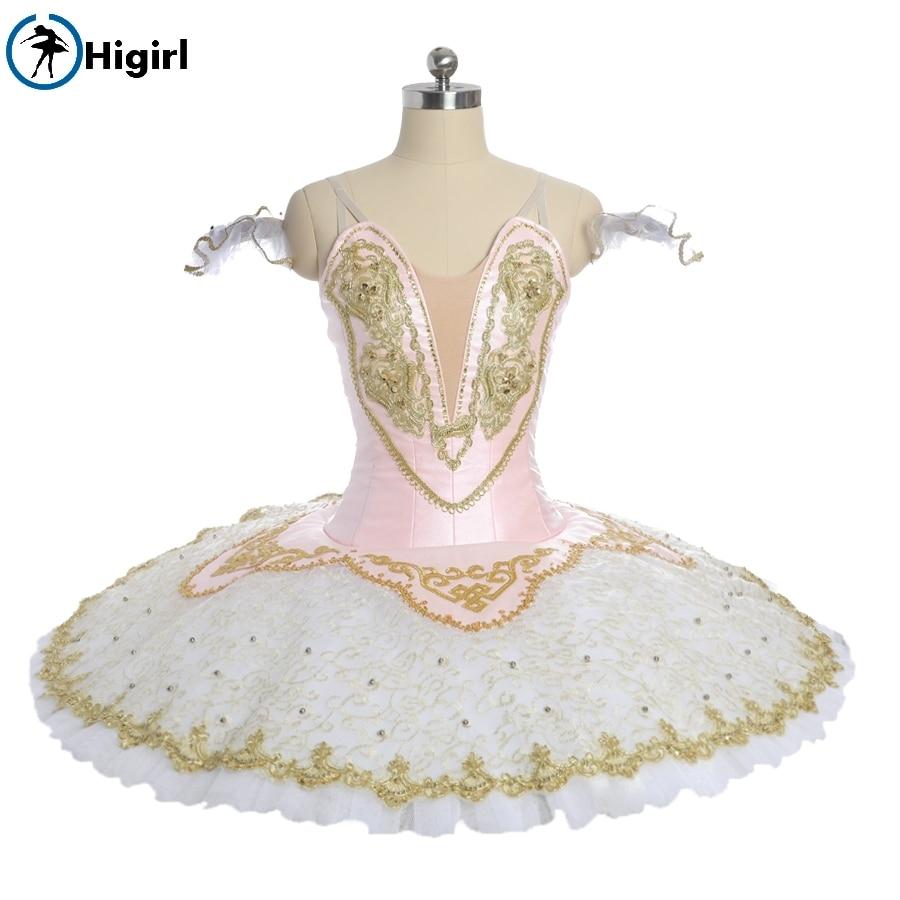 child ballerina professional tutu girls performance costume Women pink fairy pancake competiton stage tutu costumes BT9051B