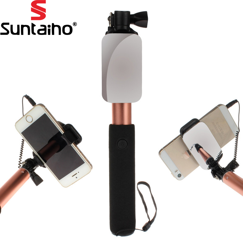 Universal Luxury Extendable Selfie Stick Monopod Iphone samsung Android IOS Wired Selfie Groove Camera palo selfie stickers