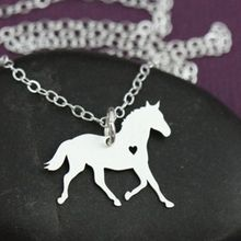 Tiny Riding Horse Necklace Jewelry Best Friend Horse Necklace Drop Shipping za Collier Boho