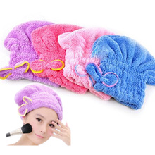 FILBAKE Hotting Womens Girls Lady's Magic Quick Dry Bath Hair Drying Towel Head Wrap Hat Makeup Cosmetics Cap Bathing Tool