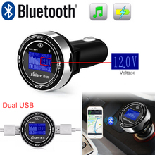 Bluetooth Car Kit Handsfree MP3 Player Support TF/Micro SD Card & U disk Voltage Monitor Detector USB Charger for iPhone Samsung