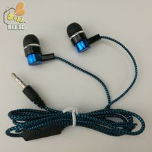 earset headset earphones earcup common cheap serpentine Weave braid cable direct sale by manufacturer blue green cp-13 100pcs(China)