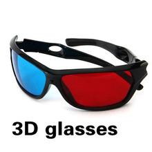 2016 New Universal 3D Plastic Glasses Black Frame Red Blue 3D Visoin Glass For Dimensional Anaglyph Movie Game DVD Video TV(China)