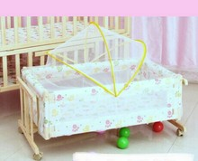 Trolley Solid wood Baby Cribs baby Bedding Mother & Kids baby cradle with netting 90*50 CM hot whole sale 2017 good price(China)