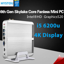 6 Gen Skylake Mini PC Intel Core i5 6200u 3 Years Warranty Intel Graphics 520 Ultra HD 4K HTPC Desktop Computer Barebone System(China)