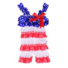 New Newborn Baby Toddler Girl's Cake Ruffle Lace Dresses Petti Sling Rompers Jumpsuit Photo Dress A(China)