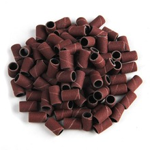 "100pcs 180"" Nail art Sanding Bands Brown Pieces Gel File Gel polish remover For Electric Nail Machine"