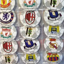 New  48pcs/set Football Club Pin Badges,Round Brooch Badge Kids Clothing Accessories 4.5 cm  Free Shipping  MF072