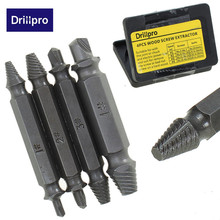 4PCS/Set Double Side Damaged Screw Extractor Drill Bits Out Remover Bolt Stud Tool Wholesale Price(China)