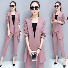 Buy autumn Women's wear two-piece clothing set new korean fashion irregular coat pants suit office design slim clothes outfits S-XXL for $32.55 in AliExpress store