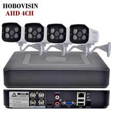 HOBOVISIN HD 1080P HDMI 4ch CCTV System 4CH AHD DVR KIT 720P 960P 1080P AHD Security Camera Home Surveillance Video Recorder