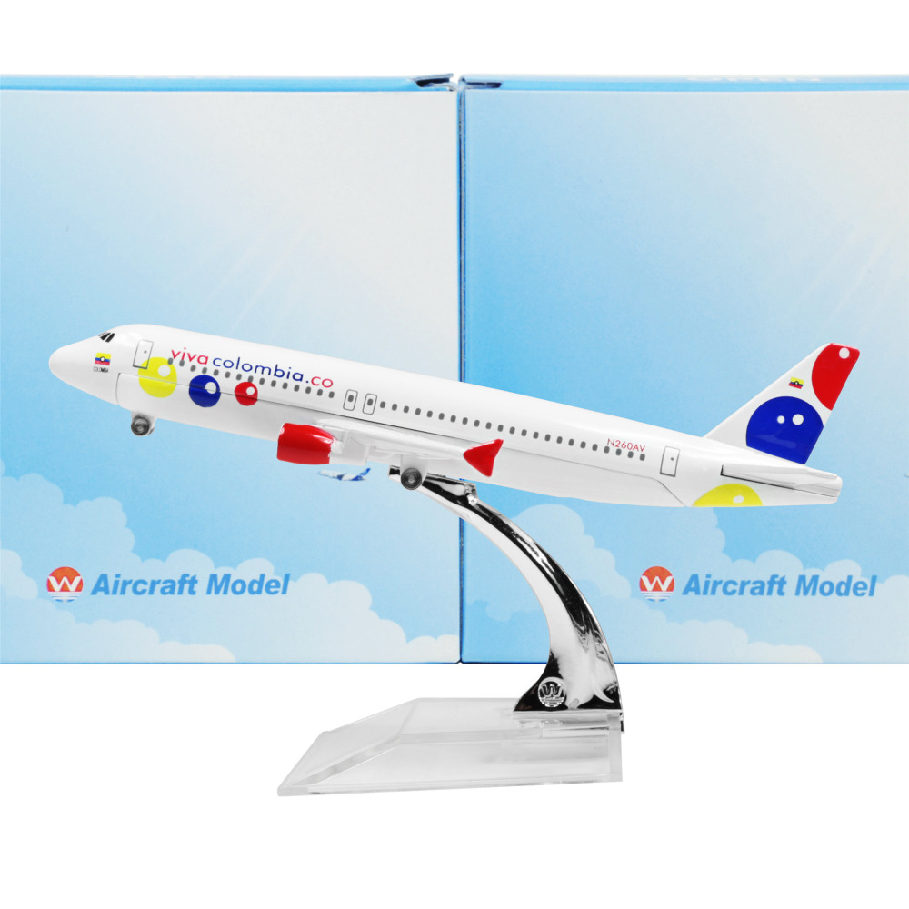 Colombian national airline Blue Airbus 320 16cm airplane child Birthday gift plane models toys Free Shipwping Christmas gift(China (Mainland))