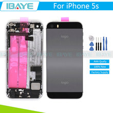 Full Housing For iPhone5 5S Back Metal Chassis Battery Cover Door Frame for iphone5s 5G Replacement Seller imei Number IMEI
