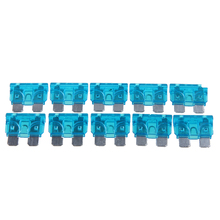 10x ATS Car Motorcycle SUV Truck Auto Blade Fuse Kit 15A Mini Blade Fuse Assortment Auto Fuse Box