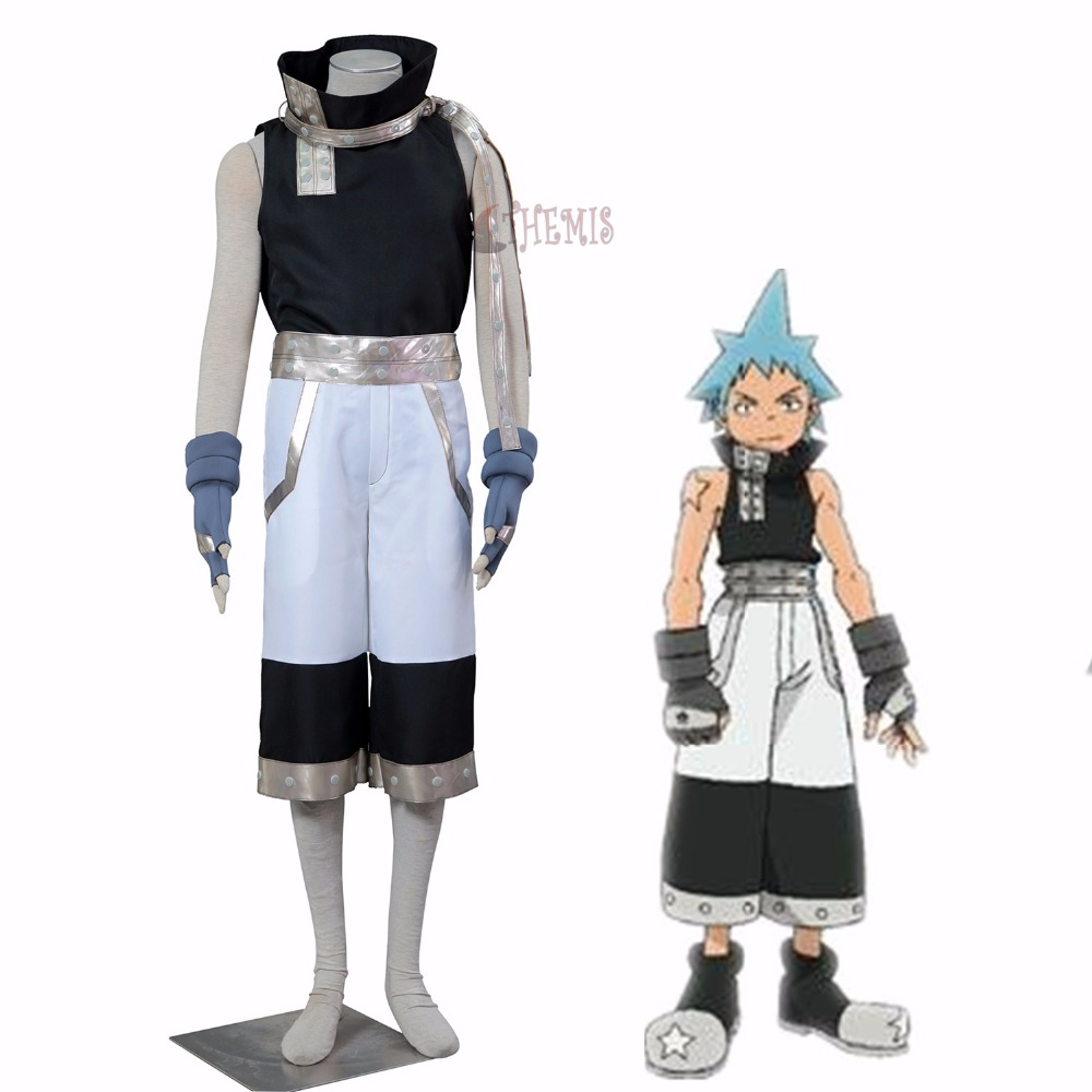Athemis Soul Eater cosplay Black Star cosplay costume in stock