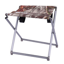 Portable Lightweight Folding Fishing Picnic BBQ Garden Chair Aluminum Alloy Square Outdoor Stool For Camping Hiking Fishing