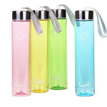 H2o Transparent Plastic Bottle 280ml Portable Leak-proof Bike Sports Unbreakable 550ml Plastic Water Bottle